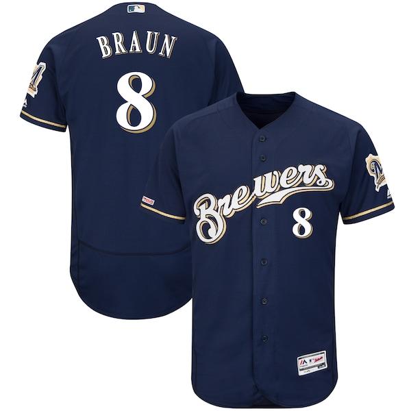 Men's Milwaukee Brewers Ryan Braun Majestic Altern buy fake soccer jerseys